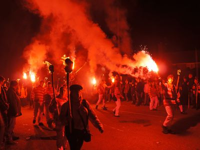 Where to see a traditional Sussex bonfire from Brighton